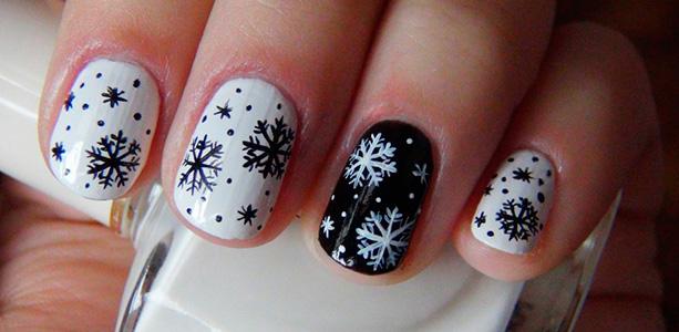 Маникюр зимний дизайн