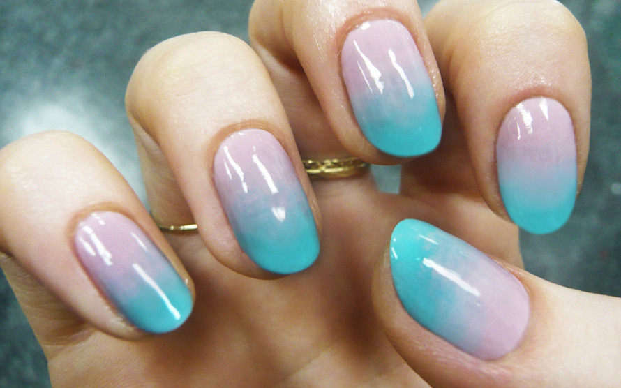 Фото ногти дизайн шеллак омбре