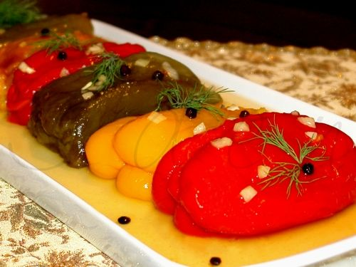 Болгарские перцы в зимних заготовках