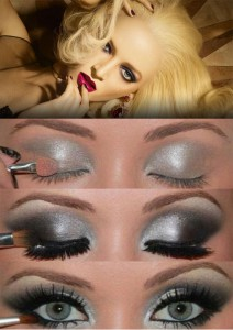 Новогодний макияж глаз