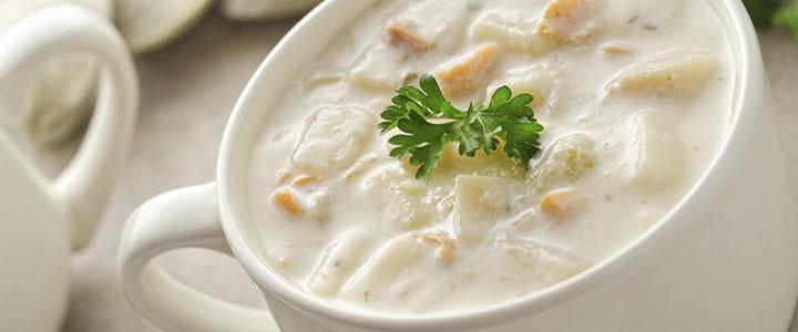 Молочный суп с вермишелью и картошкой