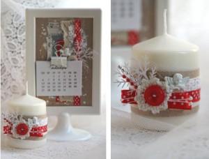 новогодняя свеча 4
