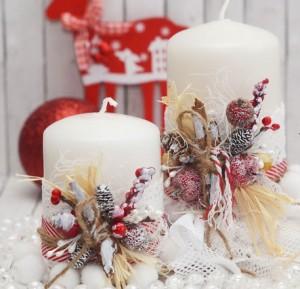 новогодняя свеча 5