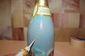 декупаж шампанского 4