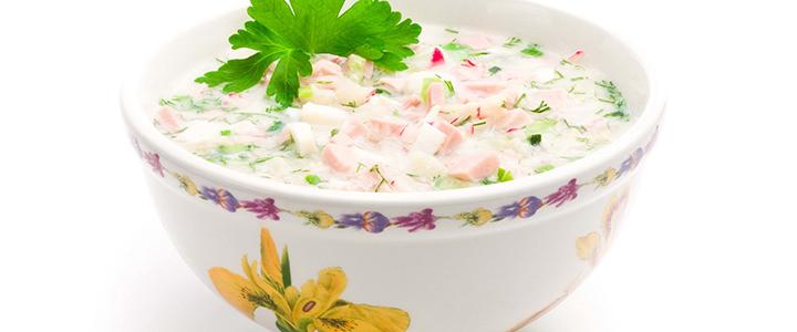 Окрошка на Айране – 4 низкокалорийных рецепта