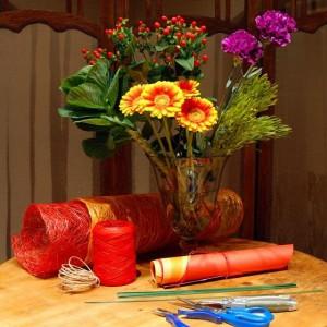 Букеты к 1 сентября своими руками из хризантем