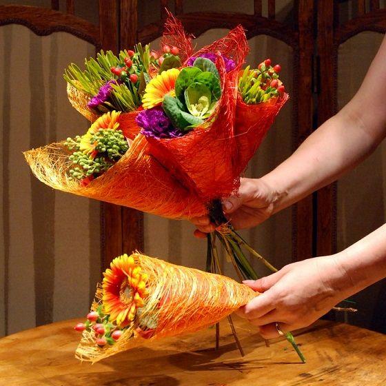 Букети из цветов мастер класс