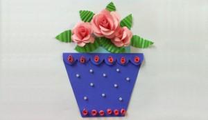 открытка цветочный горшок