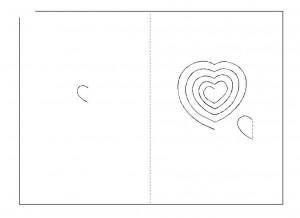 шаблон открытки с сердцем