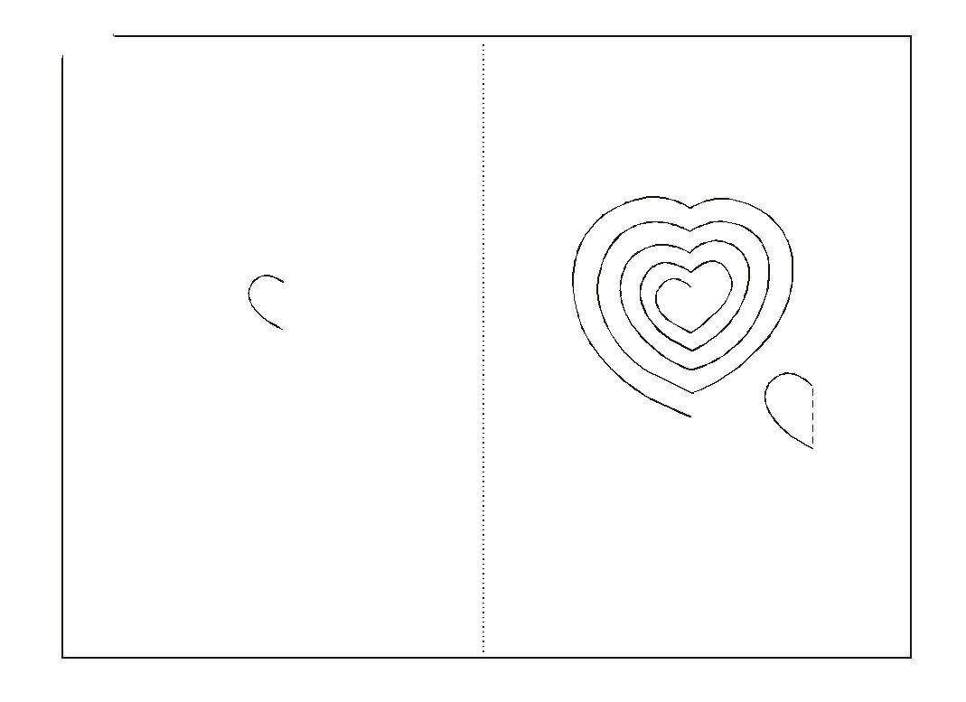 3д открытка сердце схема