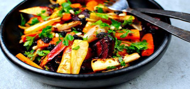 Овощи на мангале в фольге