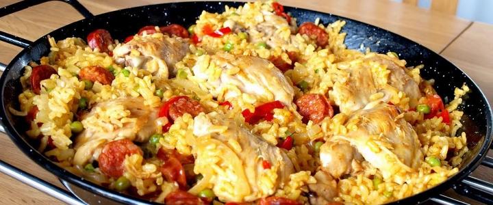 паэлья с морепродуктами с курицей