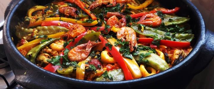 классическая испанская паэлья с морепродуктами