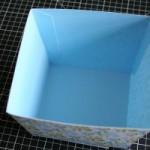 бумажная корзинка 4
