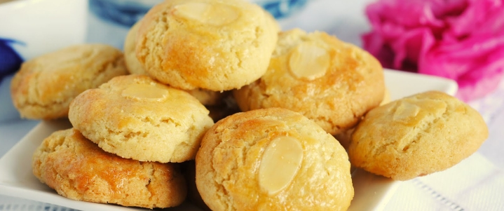 печенье на сметане с миндалём