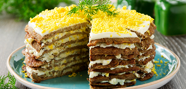 Печінковий торт рецепт с фото