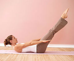 седьмое упражнение пилатес