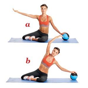 упражнение пилатес 1