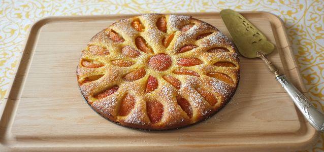 песочный пирог с абрикосами рецепт