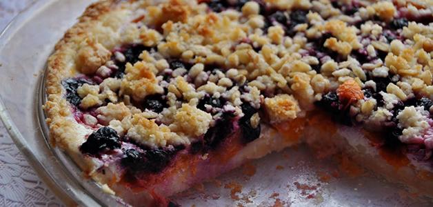 Пирог с замороженной черникой простой рецепт