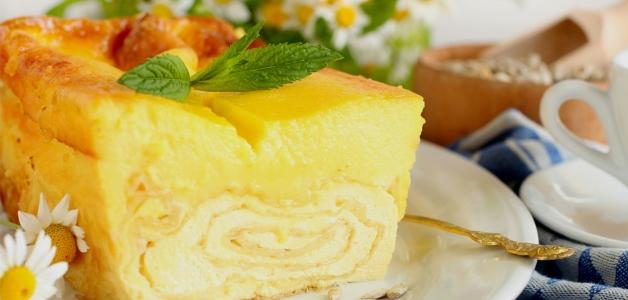 Пирог с хурмой и тыквой