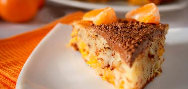 Мандариновый творожный пирог