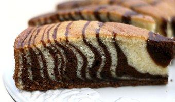 """Пирог """"Зебра"""" – 3 пошаговых рецепта приготовления"""