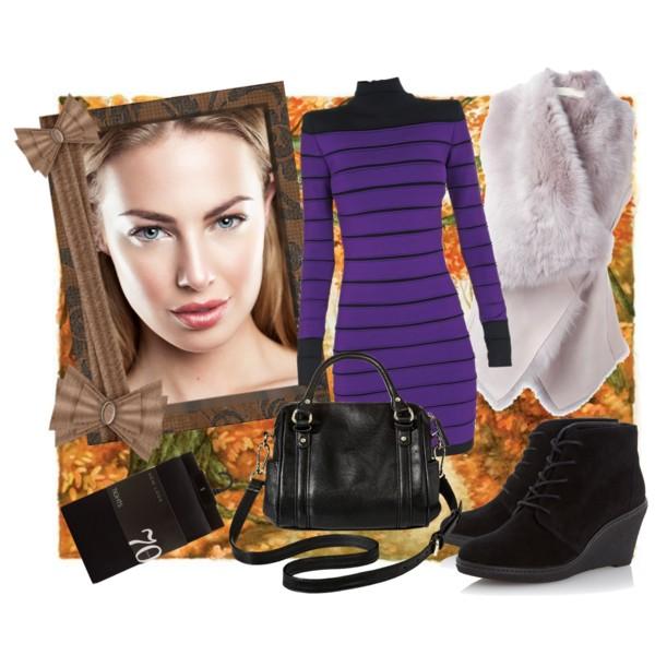 С чем носить платье осенью