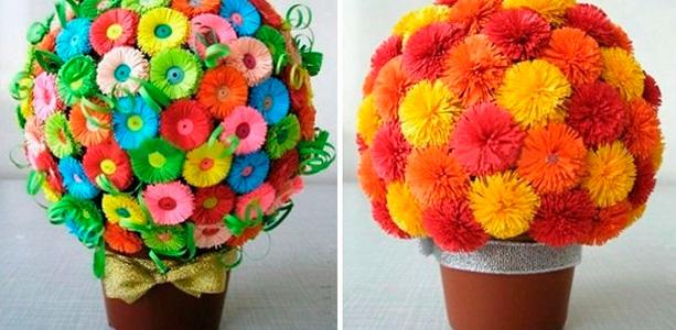 Цветы для мамы своими руками из бумаги