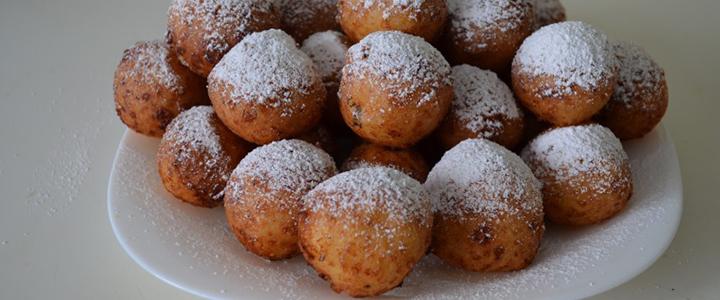 Пончики из творога с джемом