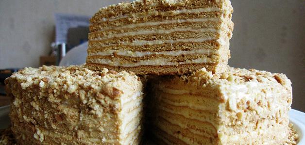 Постный торт медовик