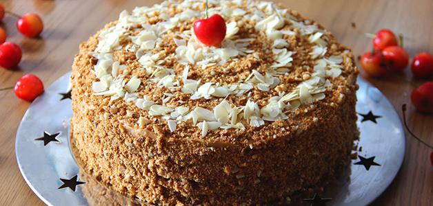 Постный медовик - рецепты очень вкусного торта