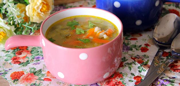 Постный рассольник суп