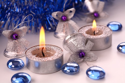 свечи на новый год