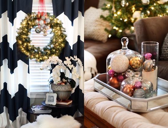 украшение дома рождественским венком