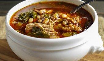 Рецепт фасолевого супа из красных и белых бобов