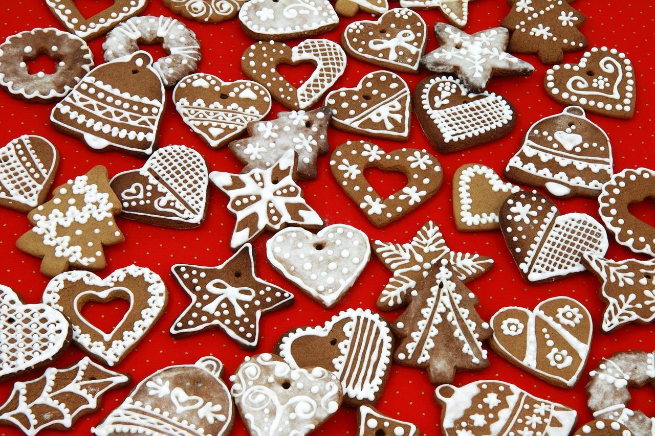 Рождественские печенья с глазурью