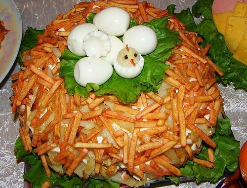 Салат гнездо глухаря дома