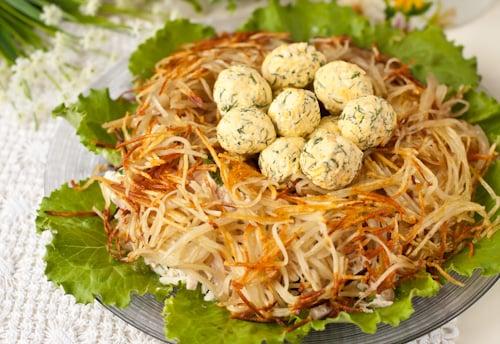 Салат гнездо глухаря рецепт