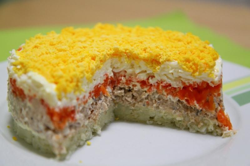 Салат мимоза с горбушей рецепт
