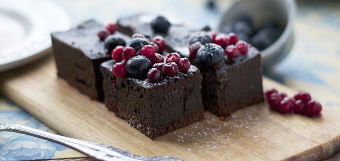 Брауни с шоколадной начинкой