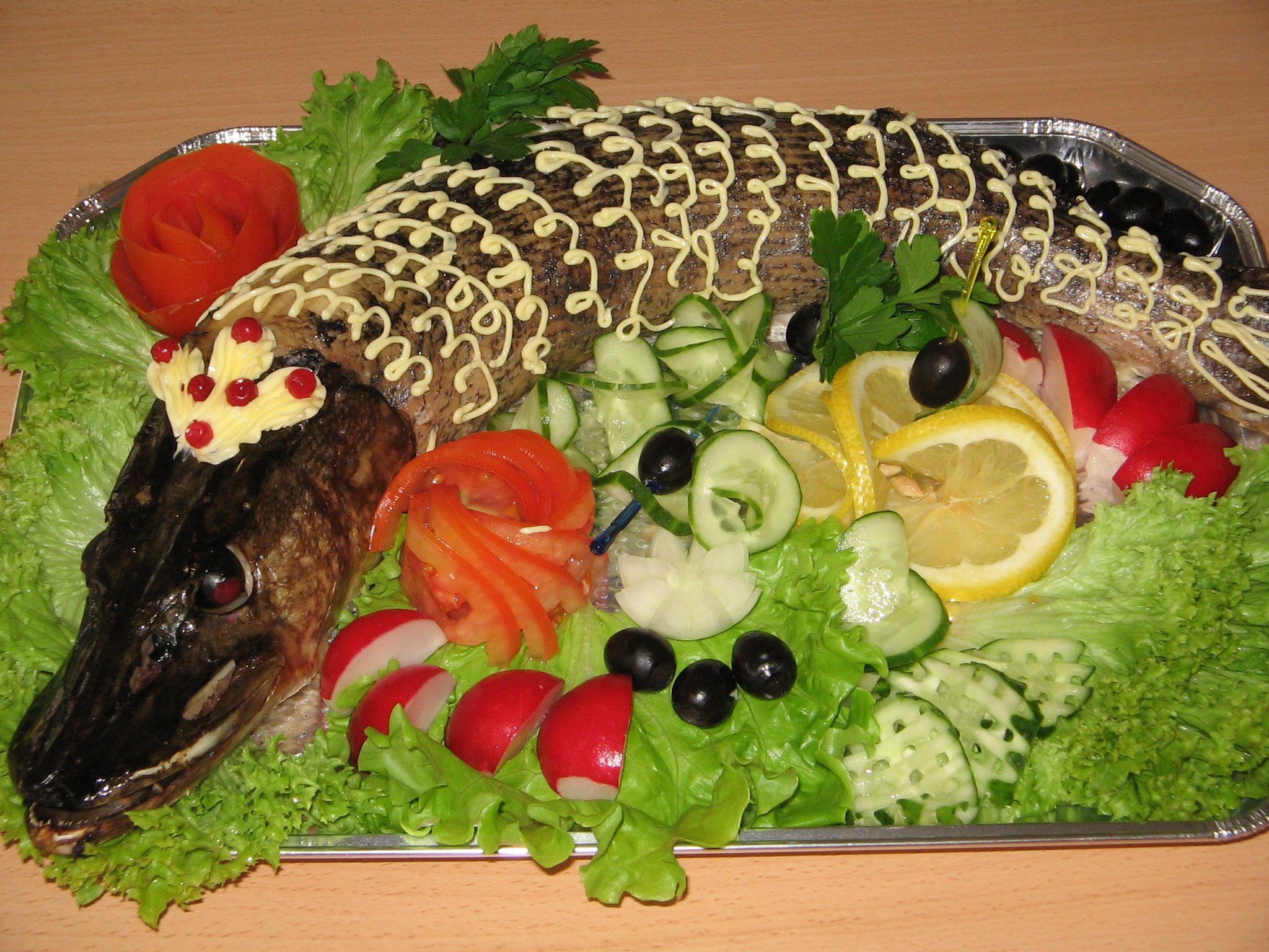 блюда из рыбы щуки запеченная рецепты с фото
