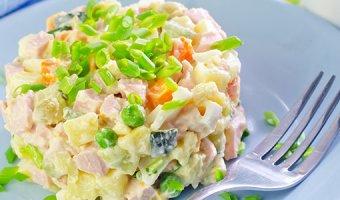 Салат Оливье – 5 вкусных рецептов зимнего салата