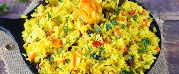 сварить рис с шафраном
