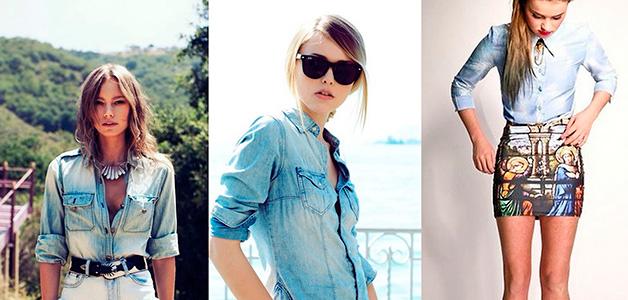 С чем носить джинсовую рубашку - универсальный элемент гардероба