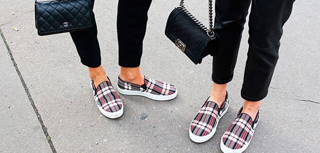 С чем носить слипоны - сочетания модной обуви
