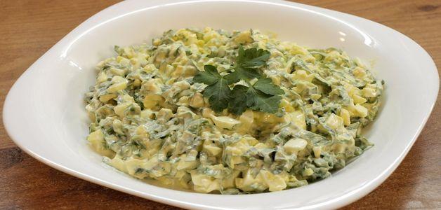 приготовить салат из черемши