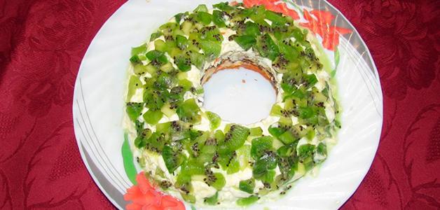 Салат изумрудный с киви
