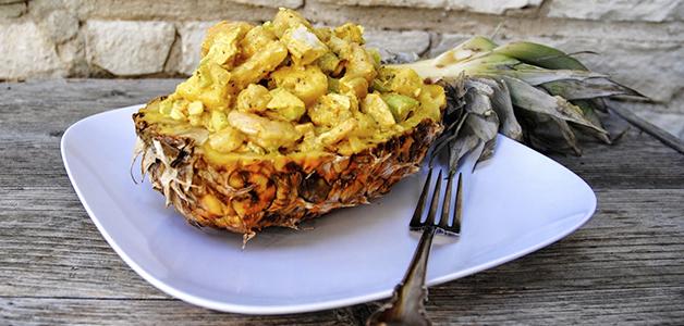 Салат «Нежность» с ананасом