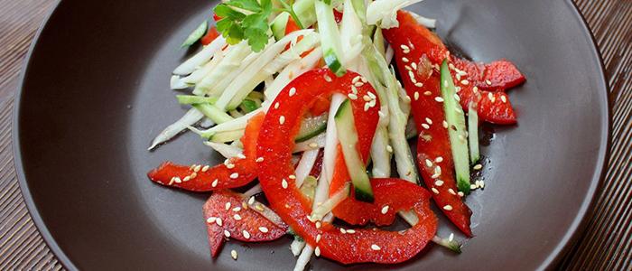 Салат с болгарским перцем и капустой